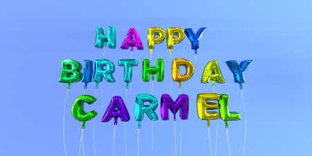 생일 풍선 카멜 카드 풍선 텍스트 -3D 렌더링 된 재고 이미지. 이 이미지는 eCard 또는 인쇄 엽서에 사용할 수 있습니다.