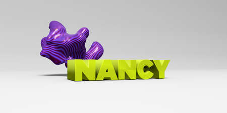 NANCY - 3D rendered colorful headline illustration.  Can be used for an online banner ad or a print postcard.
