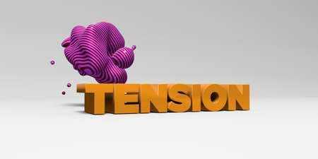 tension: TENSION - 3D rendered colorful headline illustration.  Can be used for an online banner ad or a print postcard.