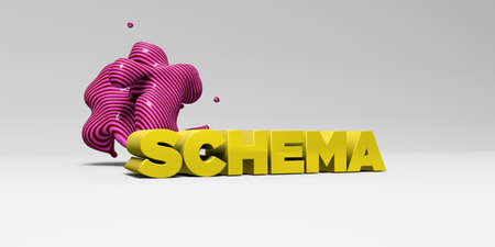 SCHEMA - 3D rendered colorful headline illustration.  Can be used for an online banner ad or a print postcard.