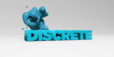 discrete: DISCRETE - 3D rendered colorful headline illustration.  Can be used for an online banner ad or a print postcard.