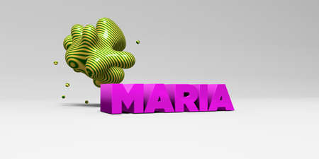 maria: MARIA - 3D rendered colorful headline illustration.  Can be used for an online banner ad or a print postcard.