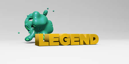 legend: LEGEND - 3D rendered colorful headline illustration.  Can be used for an online banner ad or a print postcard. Stock Photo
