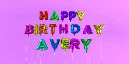 Happy birthday avery card with balloon text 3d rendered stock happy birthday avery card with balloon text 3d rendered stock image this image can m4hsunfo