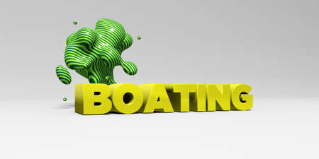 boating: BOATING - 3D rendered colorful headline illustration.  Can be used for an online banner ad or a print postcard. Stock Photo