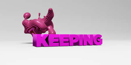 KEEPING - 3D rendered colorful headline illustration.  Can be used for an online banner ad or a print postcard.