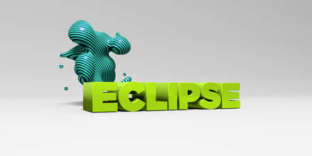 ECLIPSE - 3D rendered colorful headline illustration.  Can be used for an online banner ad or a print postcard.
