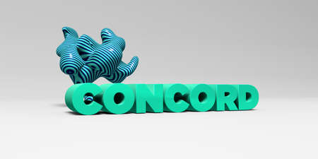 concord: CONCORD - 3D rendered colorful headline illustration.  Can be used for an online banner ad or a print postcard.