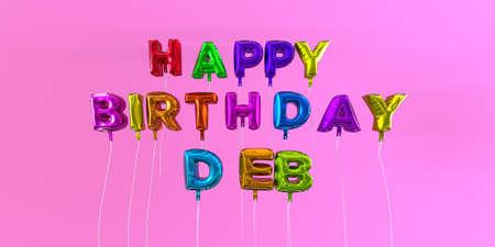 Gute Zum Geburtstag Deb Karte Mit Ballon Text