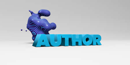 author: AUTHOR - 3D rendered colorful headline illustration.  Can be used for an online banner ad or a print postcard.