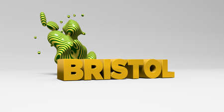 bristol: BRISTOL - 3D rendered colorful headline illustration.  Can be used for an online banner ad or a print postcard.