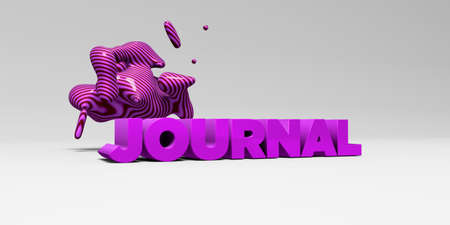 banner ad: JOURNAL - 3D rendered colorful headline illustration.  Can be used for an online banner ad or a print postcard.
