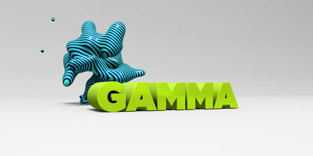 gamma: GAMMA - 3D rendered colorful headline illustration.  Can be used for an online banner ad or a print postcard.