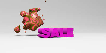SALE - 3D rendered colorful headline illustration.  Can be used for an online banner ad or a print postcard.