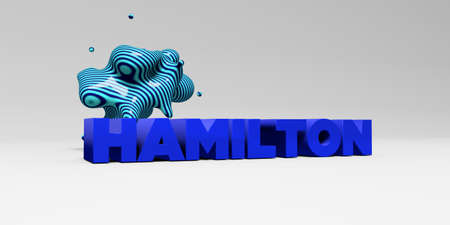 hamilton: HAMILTON - 3D rendered colorful headline illustration.  Can be used for an online banner ad or a print postcard.