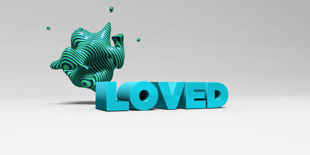 LOVED - 3D rendered colorful headline illustration.  Can be used for an online banner ad or a print postcard.