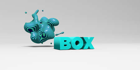 postcard box: BOX - 3D rendered colorful headline illustration.  Can be used for an online banner ad or a print postcard.