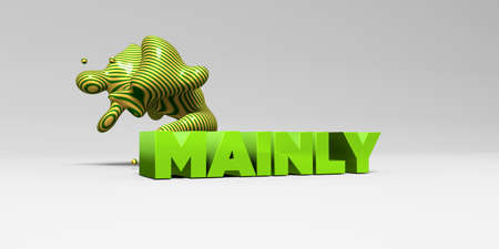 주로 -3D 다채로운 헤드 라인 그림을 렌더링합니다. 온라인 배너 광고 또는 인쇄 엽서에 사용할 수 있습니다.