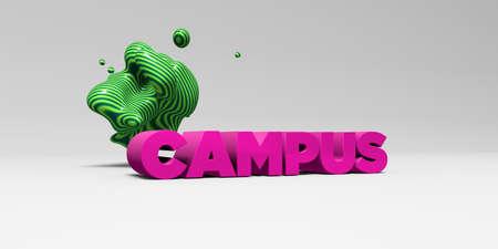 キャンパス - カラフルな見出し図 3 d。 オンラインのバナー広告や印刷のはがきに使用できます。