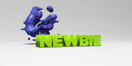 newbie: NEWBIE - 3D rendered colorful headline illustration.  Can be used for an online banner ad or a print postcard.