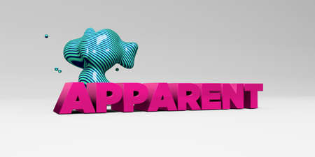 apparent: APPARENT - 3D rendered colorful headline illustration.  Can be used for an online banner ad or a print postcard.