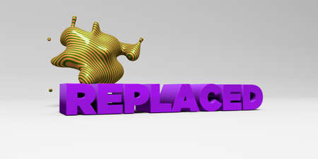 REPLACED - 3D rendered colorful headline illustration.  Can be used for an online banner ad or a print postcard.
