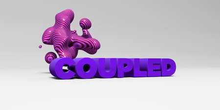 COUPLED - 3D rendered colorful headline illustration.  Can be used for an online banner ad or a print postcard. Reklamní fotografie