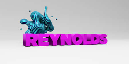 reynolds: REYNOLDS - 3D rendered colorful headline illustration.  Can be used for an online banner ad or a print postcard.