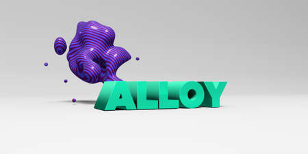 alloy: ALLOY - 3D rendered colorful headline illustration.  Can be used for an online banner ad or a print postcard.