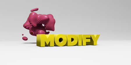 modificar: MODIFY - 3D rendered colorful headline illustration.  Can be used for an online banner ad or a print postcard.