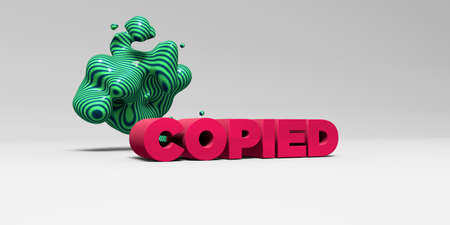 COPIED - 3D rendered colorful headline illustration.  Can be used for an online banner ad or a print postcard. Stock Photo
