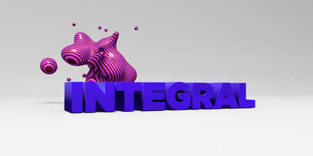INTEGRAL - 3D rendered colorful headline illustration.  Can be used for an online banner ad or a print postcard.