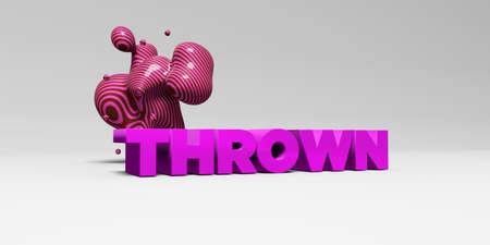 thrown: THROWN - 3D rendered colorful headline illustration.  Can be used for an online banner ad or a print postcard.
