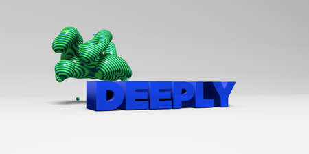 deeply: DEEPLY - 3D rendered colorful headline illustration.  Can be used for an online banner ad or a print postcard.
