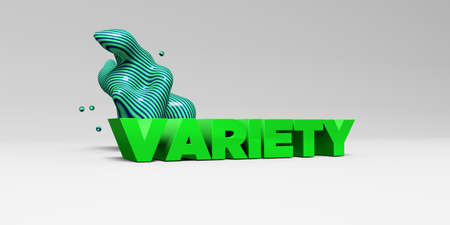 VARIETY - 3D rendered colorful headline illustration.  Can be used for an online banner ad or a print postcard. Reklamní fotografie