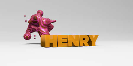 HENRY - 3D rendered colorful headline illustration.  Can be used for an online banner ad or a print postcard.