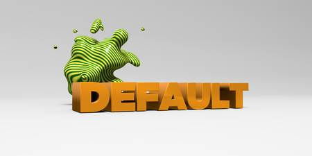 banner ad: DEFAULT - 3D rendered colorful headline illustration.  Can be used for an online banner ad or a print postcard. Stock Photo