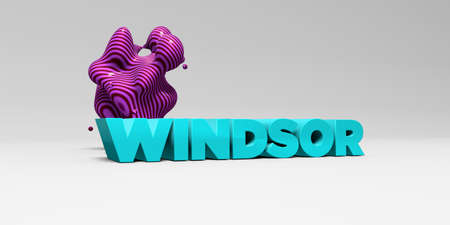 windsor: WINDSOR - 3D rendered colorful headline illustration.  Can be used for an online banner ad or a print postcard.
