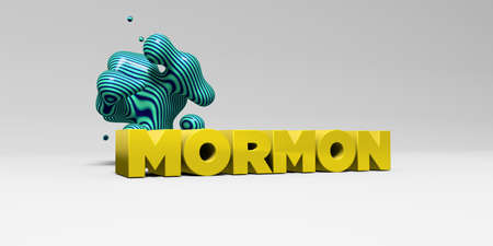 MORMON - 3D rendered colorful headline illustration.  Can be used for an online banner ad or a print postcard.