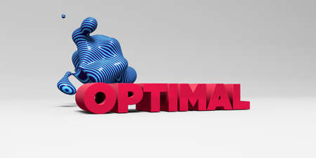 OPTIMAL - 3D rendered colorful headline illustration.  Can be used for an online banner ad or a print postcard.