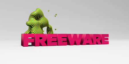 freeware: FREEWARE - 3D rendered colorful headline illustration.  Can be used for an online banner ad or a print postcard.