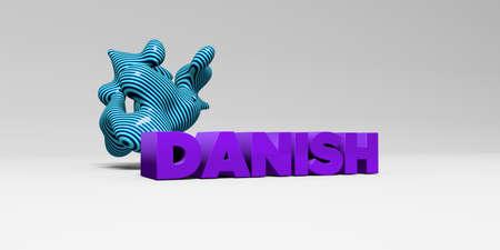 デンマーク - 3 D レンダリングされたカラフルな見出しの図。 オンラインのバナー広告や印刷のはがきに使用できます。 写真素材