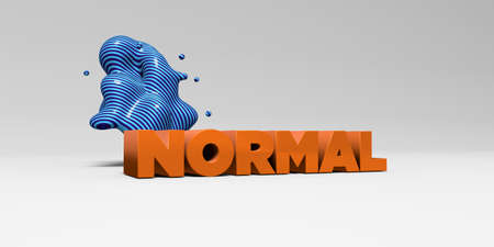 sentence typescript: NORMAL - 3D rendered colorful headline illustration.  Can be used for an online banner ad or a print postcard. Stock Photo