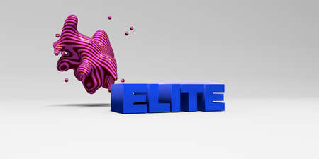 elite: ELITE - 3D rendered colorful headline illustration.  Can be used for an online banner ad or a print postcard.