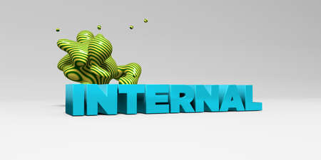 INTERNAL - 3D rendered colorful headline illustration.  Can be used for an online banner ad or a print postcard. Stock Photo