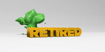 RETIRED - 3D rendered colorful headline illustration.  Can be used for an online banner ad or a print postcard.