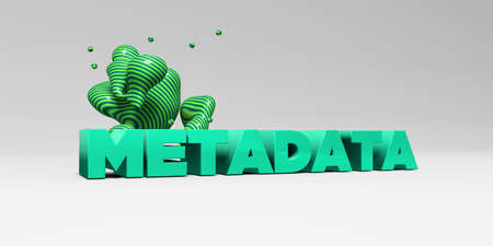 metadata: METADATA - 3D rendered colorful headline illustration.  Can be used for an online banner ad or a print postcard.