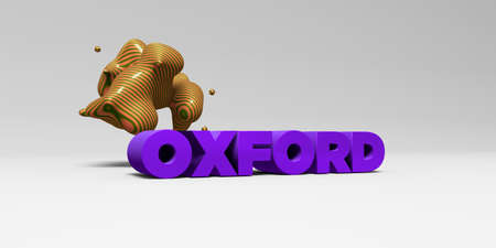 oxford: OXFORD - 3D rendered colorful headline illustration.  Can be used for an online banner ad or a print postcard.