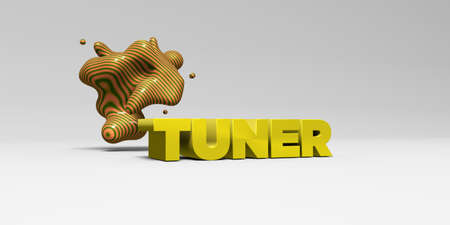 tuner: TUNER - 3D rendered colorful headline illustration.  Can be used for an online banner ad or a print postcard.