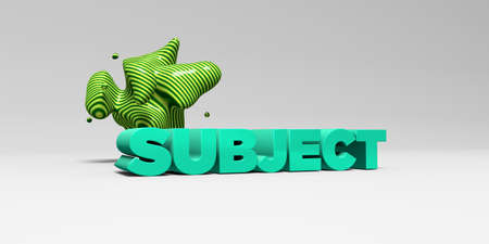 soumis: SUBJECT - 3D rendered colorful headline illustration.  Can be used for an online banner ad or a print postcard.